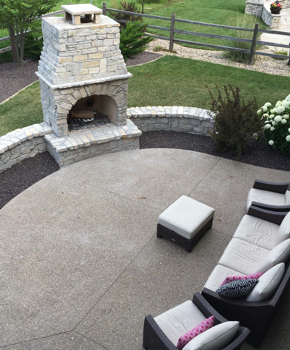 Custom Stone Fireplace Serenity Creek Design Landscaping Bloomington Il