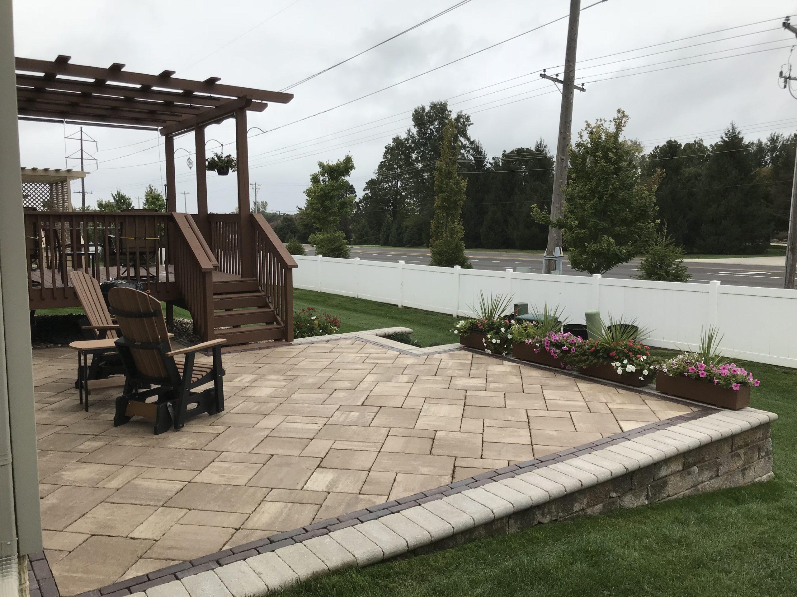 Small Raised Patio Serenity Creek Design Landscaping